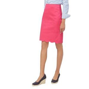 NWT J. Crew Scalloped Hem Pencil Skirt in Pink